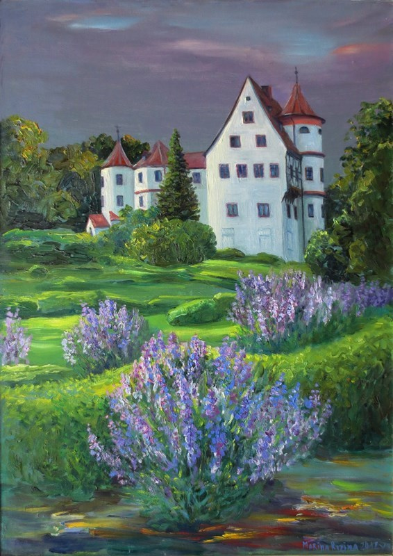 Marina Dmitrievna Razin. Germany, the castle in Neufra