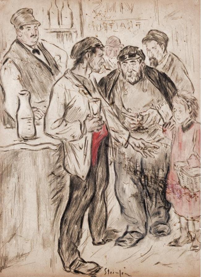 Theophile-Alexander Steinlen. In the pub