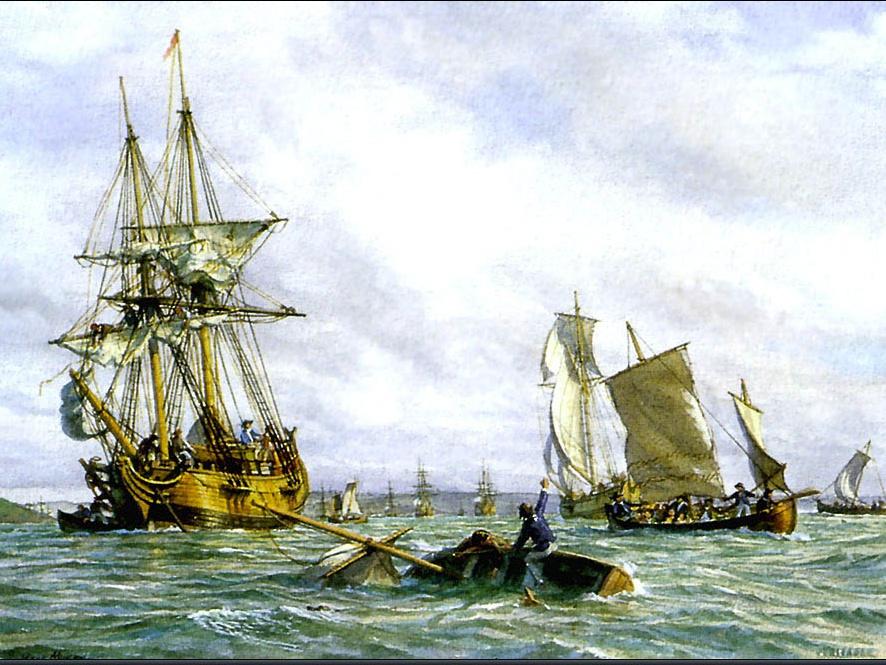 Марк Майерс. Парусное судно 9