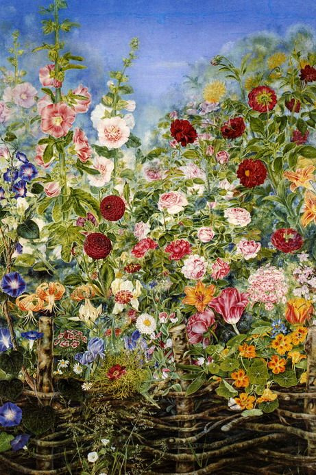 Kateryna Vasylivna Bilokur. The flowers behind the fence