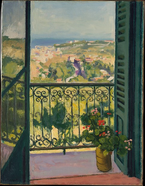 Albert Marquet. The view from the balcony