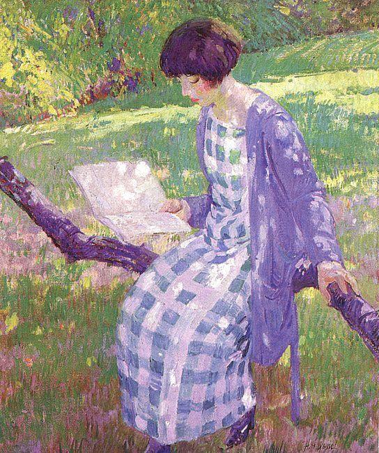 Герман Вессель. Девушка в саду