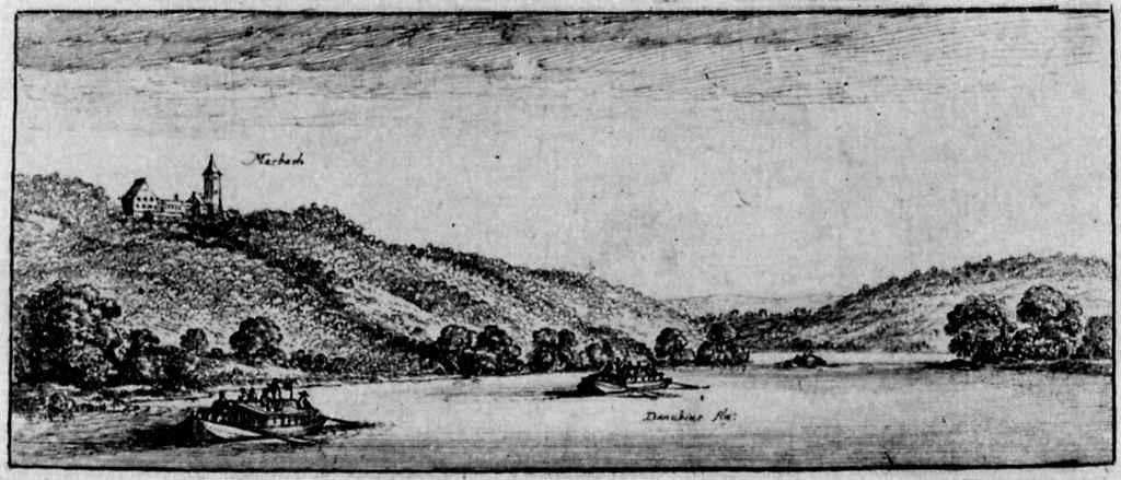 Венцель Холлар. Дунай у Марсбаха