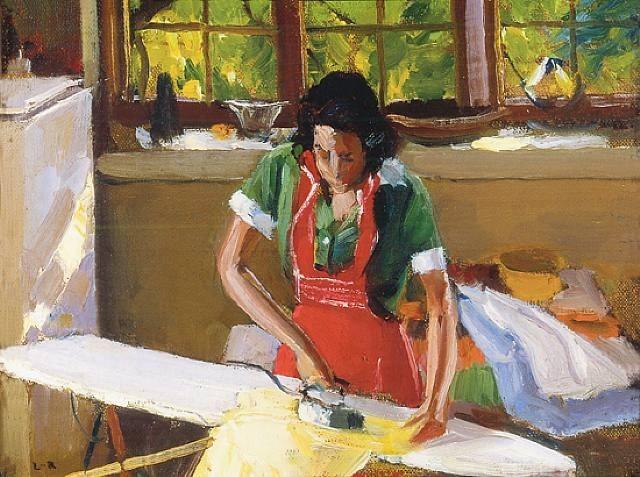 Harry Leith Ross. Eleanor. Ironing