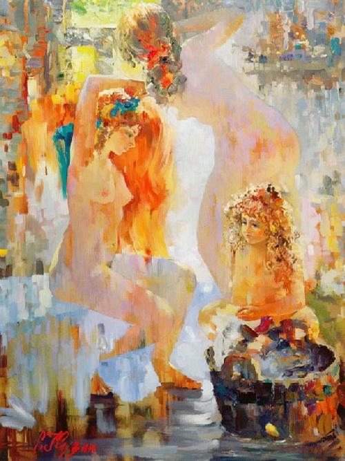 Сергей Семенович Кузин. Розовый пар. 1991