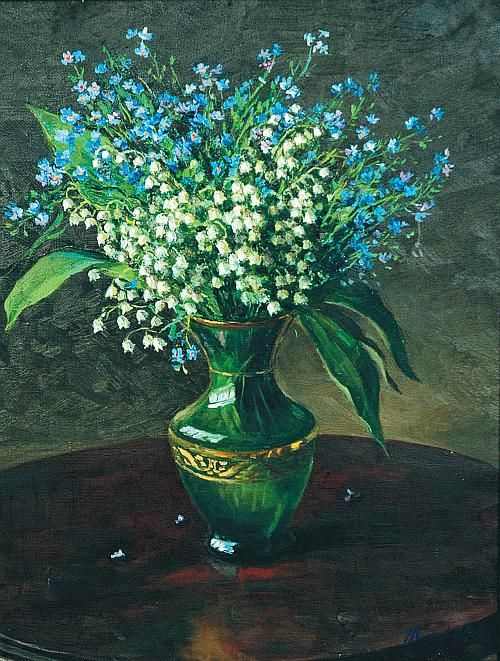 Nina Vasilyevna Skorubskaya. Lilies of the valley and forget-me-nots