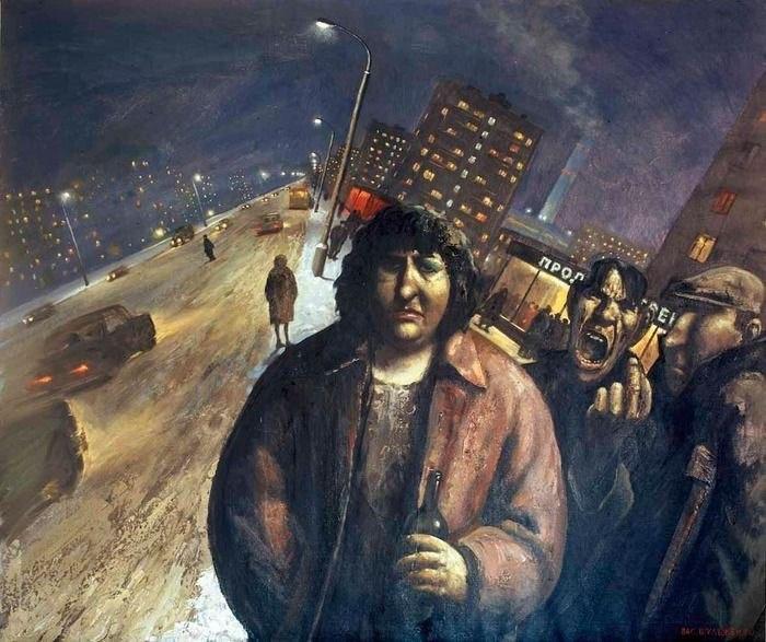 Vasily Vladimirovich Shulzhenko. Evening in the city