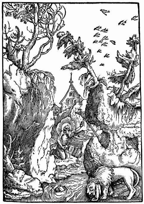 Ханс Бальдунг. Кающийся Святой Иероним в ущелье