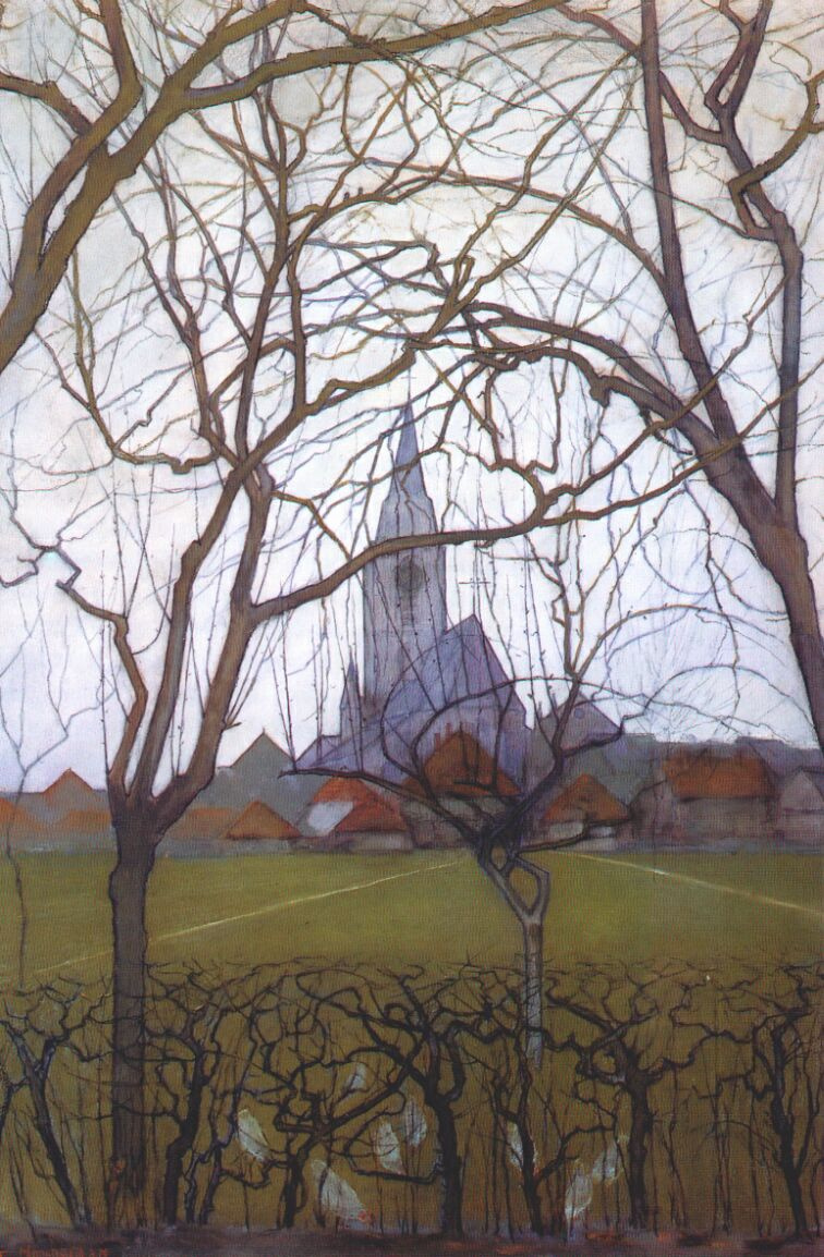 Piet Mondrian. The Church Of St. Jacob, Winterswijk