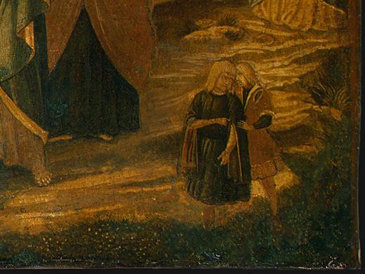Беноццо Гоццоли. Воскрешение Лазаря
