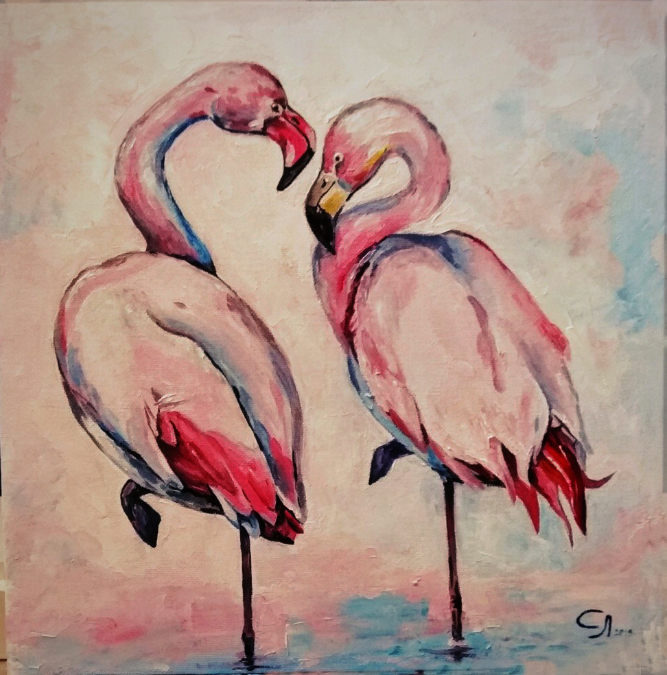 Love Semenkova. Flamingo in love