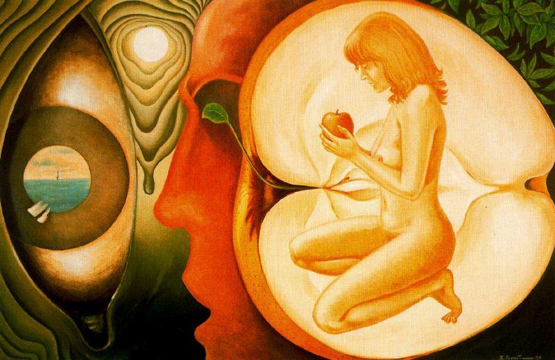 Emilio Bonet Casanova. The girl and the Apple