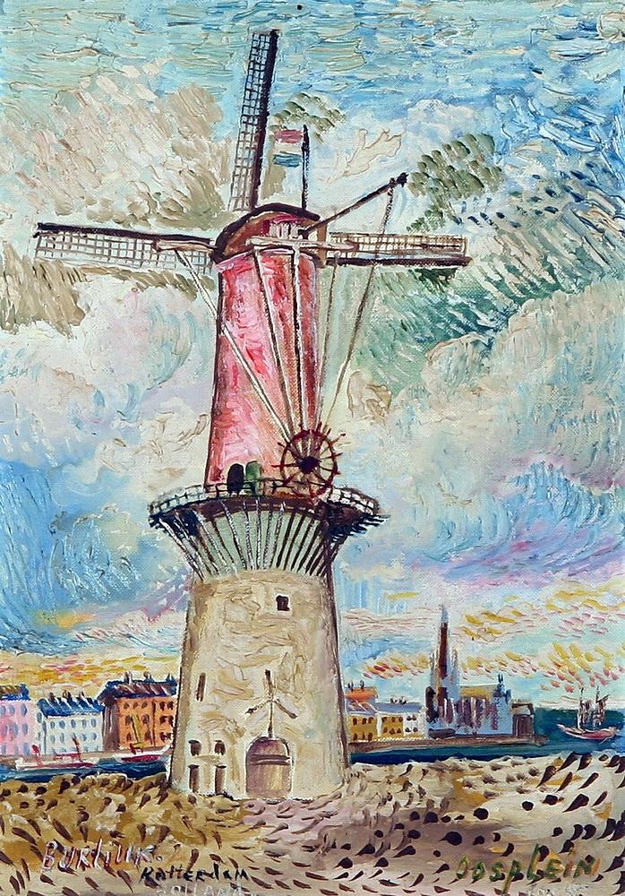Давид Давидович Бурлюк. Ветряная мельница в Роттердаме