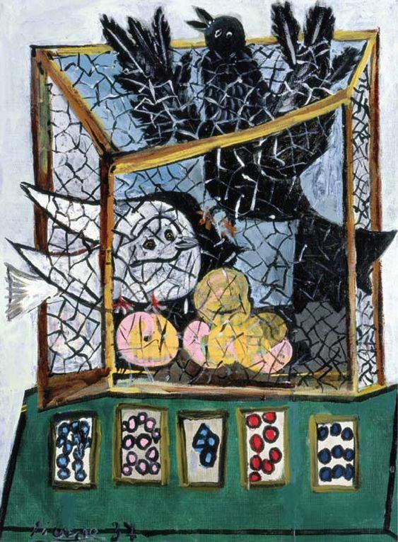 Пабло Пикассо. Птицы в клетке