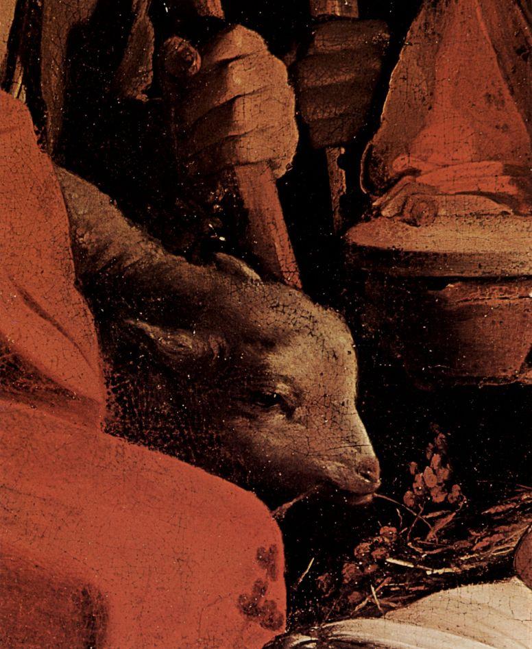Жорж де Латур. Поклонение пастухов, деталь