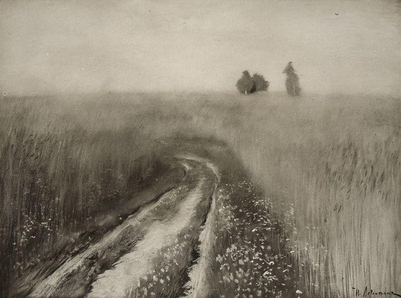 Isaac Levitan. The road in the rye (Rye)