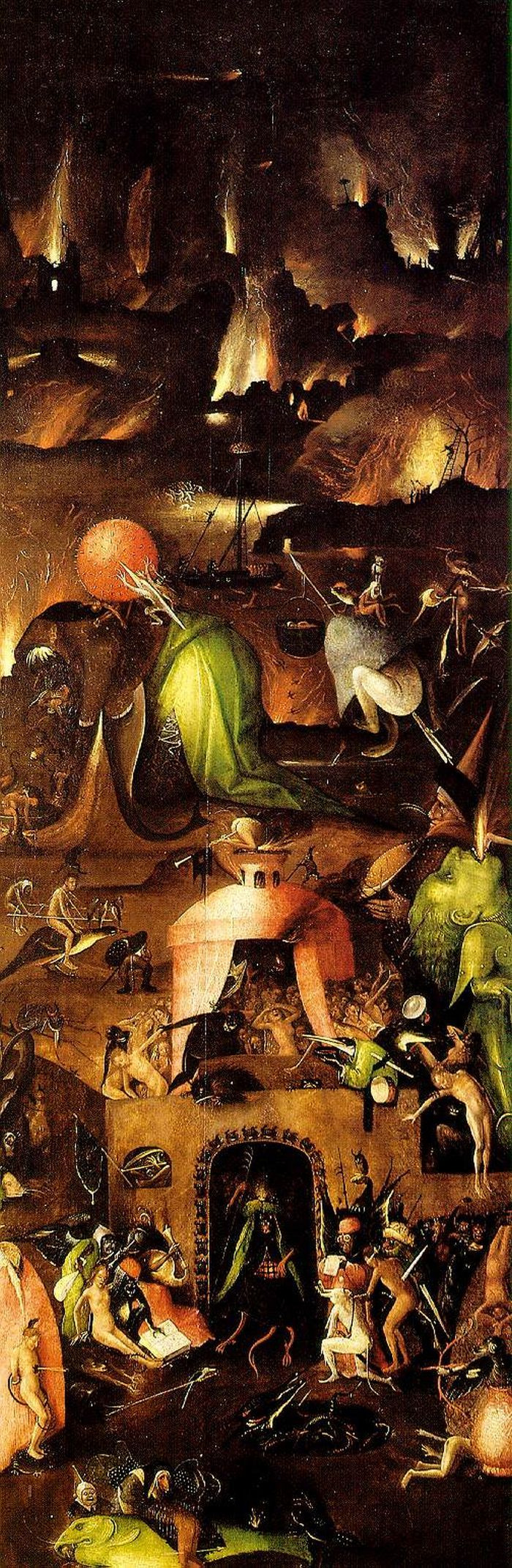 Hieronymus Bosch. Hell. The triptych the last judgment. Right wing