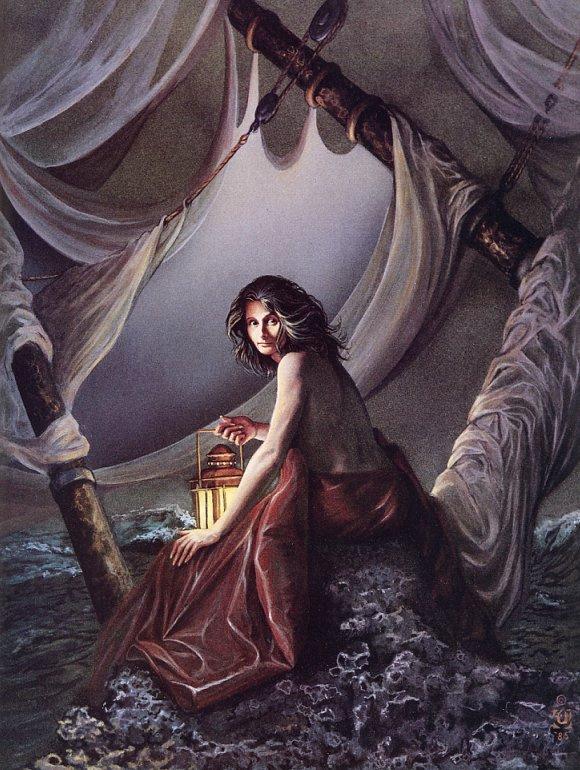 Давид Черри. Женщина в пещере