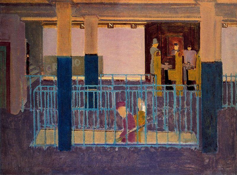 Rothko Mark. The entrance to the subway