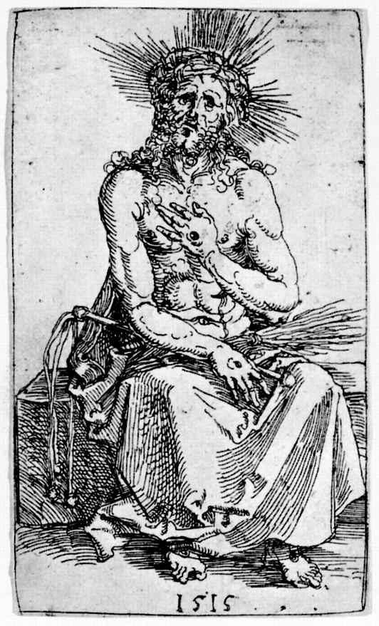 Альбрехт Дюрер. Сидящий Христос-страстотерпец