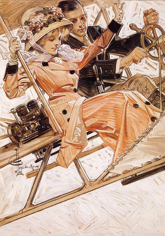 Joseph Christian Leyendecker. Flying in style