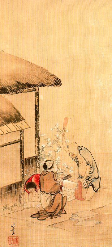 Кацусика Хокусай. Один из серии Митамагава