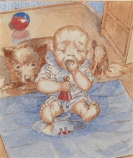 Kuzma Sergeevich Petrov-Vodkin. Crying baby