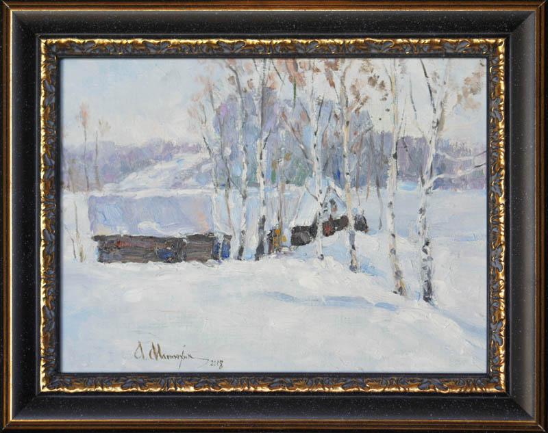 Alexander Matyukhin. 2018. Winter day sketch (18x24)