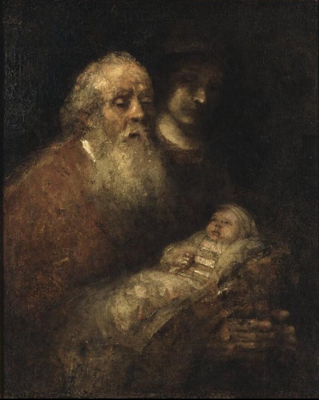 Rembrandt Harmenszoon van Rijn. Simeon in the temple