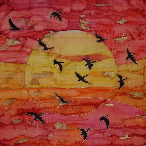 Larissa Lukaneva. Sunset. Neckerchief.
