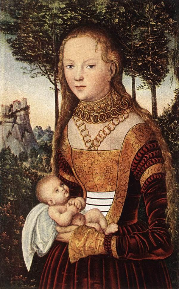 Лукас Кранах Старший. Молодая мать с ребенком