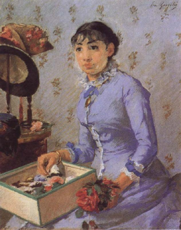 Eva Gonzalez. A milliner