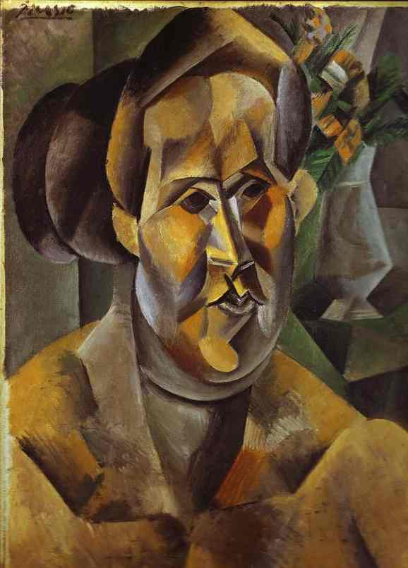 Pablo Picasso. Bust of woman with flowers (Fernanda)