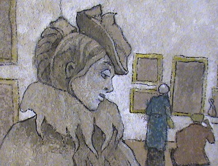 VALERIY VLADIMIROVICH KOMAROV. Anna's portrait (fragment of a picture)