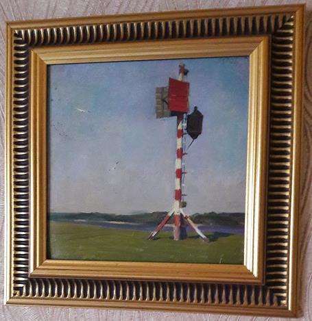 Mikhail Alexandrovich Kupriyanov. On the bank of the river. Lighthouse.