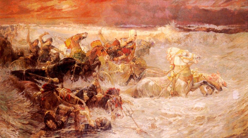 Фредерик Артур Бриджмен. Армия, тонущая в Красном море