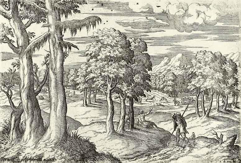 Этьен дю Пейрак. Пейзаж с оленями