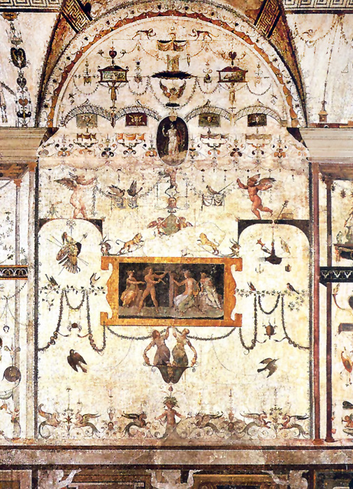 Raphael Sanzio. Loggia of Raphael the Palace of the Pope at the Vatican. Fragment of painting with grotesques II