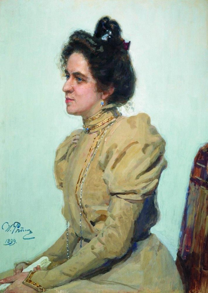 Ilya Efimovich Repin. Portrait of the actress Lyubov Nikolaevna Sazonova - Shuvalova