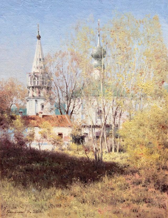 Vasily Ivanovich Gribennikov. Вид церкви. Суздаль