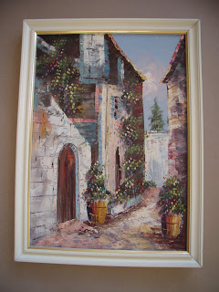 Unknown artist. Street of the old town.