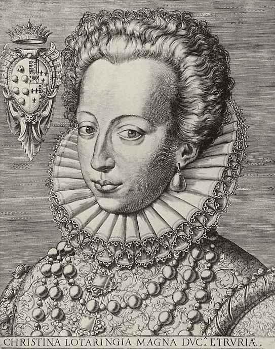 Агостино Карраччи. Портрет Кристины Лотарингской, великой герцогини Тосканской