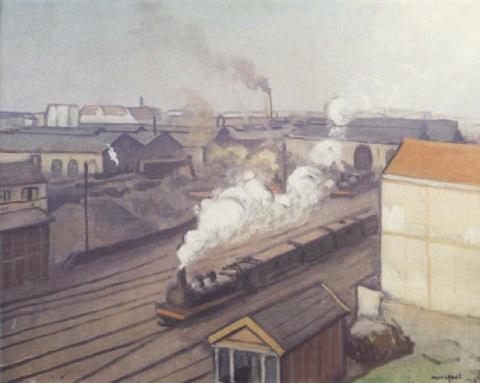 Albert Marquet. Train station in Montparnasse