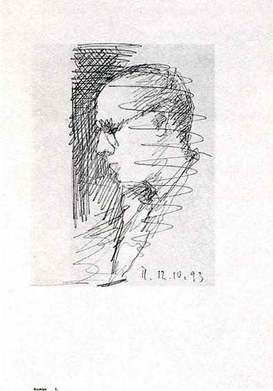 "Gerhard Richter. Self-portrait 2 (Series ""100 self-portraits"")"