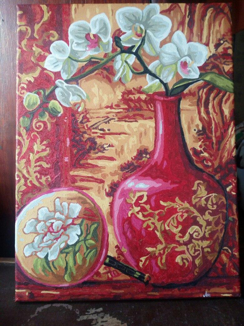 Vasilina Antonovna Chubenko. Still life Orchid in a Vase