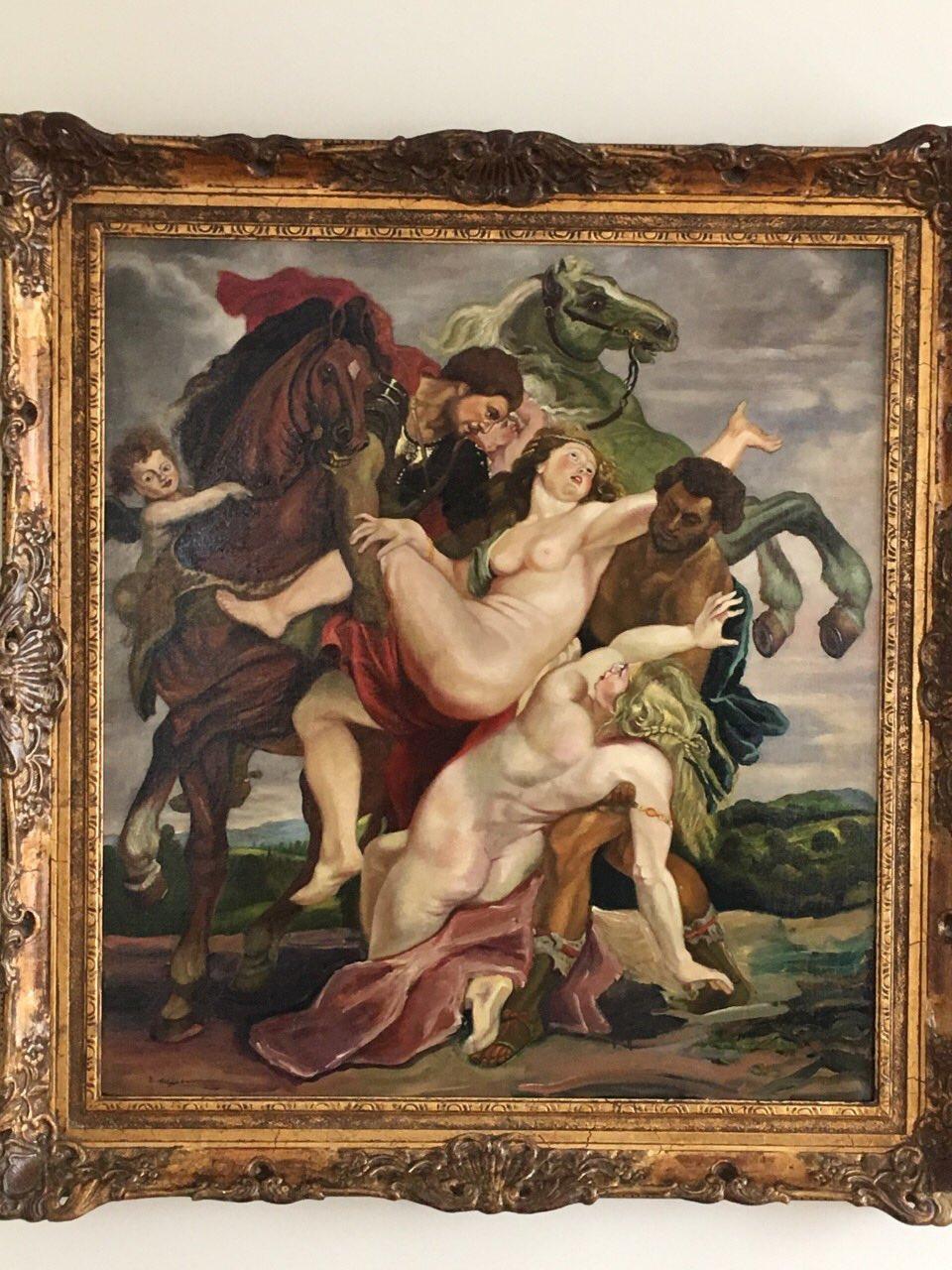 "Zoe Meunier. ""The rape of the daughters of Leucippus"" by P. P. Rubens (copy)"