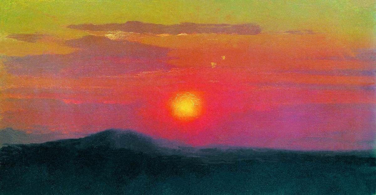 Архип Иванович Куинджи. Красный закат. Эскиз одноименной картины