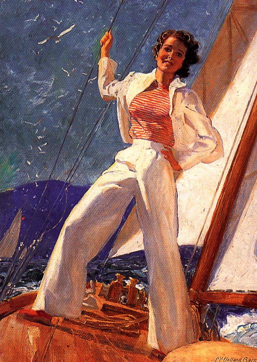 McClelland Barclay. Girl in white