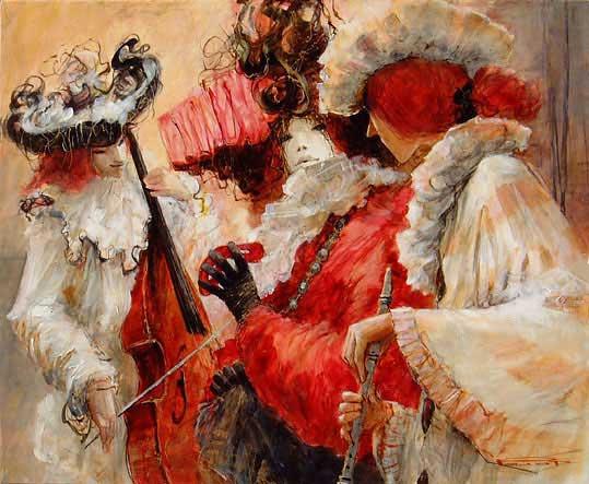 Марсель Пажо. На карнавале