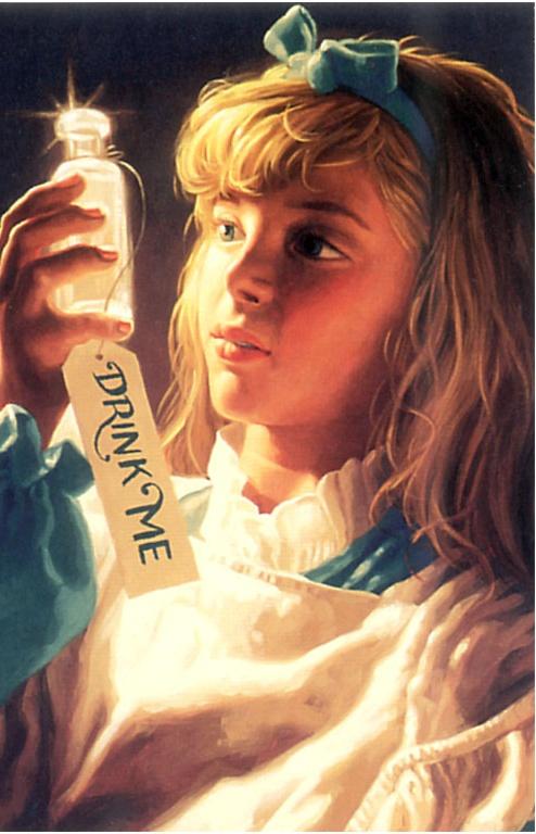 Грег Хильдебрандт. Девочка с напитком